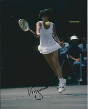 Virginia WADE Signed 12x8 Autograph Photo AFTAL COA British Tennis Great Genuine