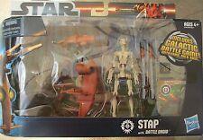 Star Clone Wars Hasbro Stap with Battle Driod Action Figure Speeder NISB