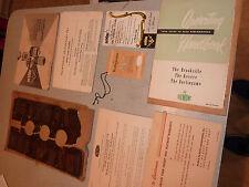 1950 DUMONT RA-113 MODEL MANUAL BROCHURE TAGS WARRANTY Information