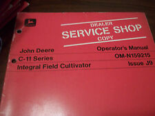 John Deere Tractor Operator'S Manual Integral Field Cultivator Issue J9