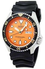 SEIKO MEN'S AUTOMATIC SCUBA 200M DIVER WATCH SKX011J + Rubber Strap JAPAN MADE