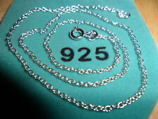 1.2mm 20 in Sterling Silver Plated O Chain Necklace(Tagged 925) (HRVJO)