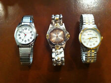 Lot of 3 Different Brands of Stainless Steel watches! Great price!