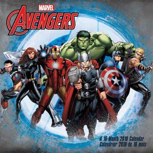 Marvel Comics The Avengers 16 Month 2018 Wall Calendar NEW SEALED