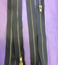 Brass Grey Open End Zips 61cm Chunky Zips Quantity 20 For £9.99