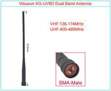 1Pcs Original WOUXUN KG-UV8D SMA-Male 144/430MHz Radio Antenna for Walkie Talkie