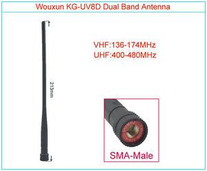 Original WOUXUN Antenna SMA-Male Dual Band VHF/UHF KG-UV8D KG-UV6D Walkie Talkie