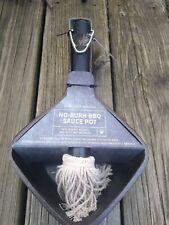 New Williams Sonoma No-Burn Bbq Sauce Pot & Mop-Style Basting Brush *Cast Iron