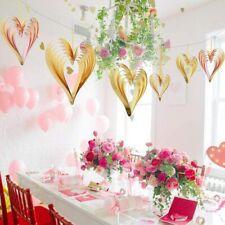 Us Rose Gold Heart-shaped Balloons Diy Foil&Latex Balloons String Birthday Decor