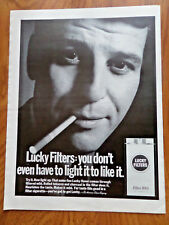 1968 Lucky Strike Cigarette Ad  Filter 100's  Lot of 2 different Ads