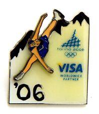 Pin Spilla Olimpiadi Torino 2006 - Sponsor VISA '06 Pattinaggio Di Figura