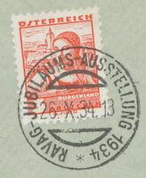 """ÖSTERREICH SONDERSTEMPEL 1934 """"RAVAG-JUBILÄUMS-AUSSTELLUNG 1934"""""""