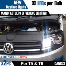 VW T5 T6 Transporter 33 LED Blanco Brillante XENON Bombillas de circulación diurna DRL