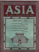 1921 Asia February - Calcutta Road; British North Borneo; Japan wants Mongolia