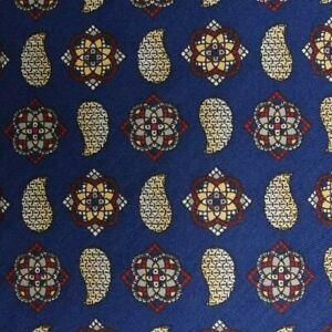 Blue Foulard ANDREW'S Silk Tie