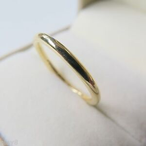 New Arrival Pure Au750 18K Yellow Gold Band Women's Smooth Ring Size 5.5