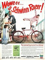 1955 Schwinn Racer Bicycle Vintage Print Ad Christmas Gift Most Exciting Moment