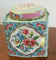 Vintage Ornate Tin from Endland-with lid