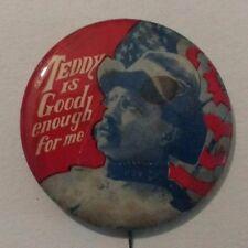"Vintage -""Teddy is good enough for me."" Political Pin-Art Fair 1967 -2"""