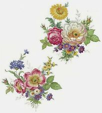 """2 Meissen Wild Flower 6-3/4""""  Waterslide Ceramic Decals 272 Bx"""