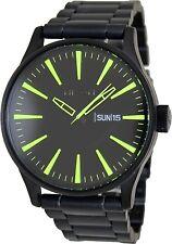 Nixon Men's Sentry Ss A3561256 Black Stainless-Steel Quartz Fashion Watch