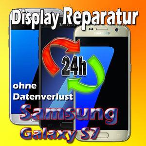 24 St. Display Reparatur Samsung Galaxy S7 SM-G930F Glas Austausch Schwarz