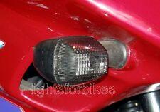 schwarze Blinker Gläser Kawasaki ZX 6R ZX 9R GPZ 500 S smoked signal lenses