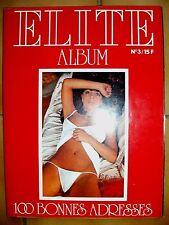 Magazine de Charme pour hommes ALBUM N°3 ELITE genre Absous, Absolu, Privé, Plus