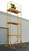 "18 Ft Scaffold Tower With Safety Rail And 32"" Outriggers"