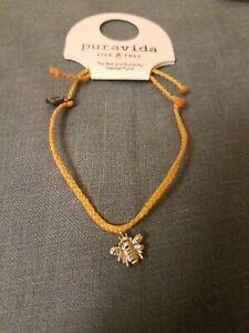 Pura Vida Charity Bee And BUTTERFLY Charity BRACELET