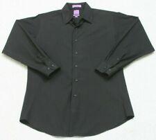 Bill Robinson Black Slim Fit Pocket Dress Shirt Long Sleeve Medium 15-15.5 32/33