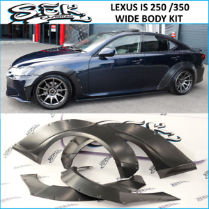Lexus IS 250 / IS 350 Wide Body Kit 10 Pcs. Full Fender Flares Set 35 mm width