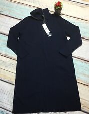 NWT Lauren Ralph Lauren Size 3X Navy Blue Half Zip Sweater Dress PLUS Career$260