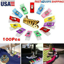 100x Plastic Sewing Clips Craft Quilting Binding Holding Fabric Knitting Clamps