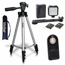 "VIVITAR 50"" PRO TRIPOD + 36 VIDEO LIGHT LED + REMOTE FOR CANON EOS REBEL T3I T5I"