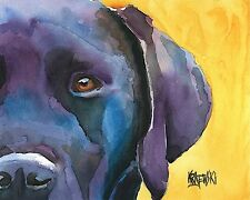 Labrador Retriever Art Print from Painting | Black Lab Gifts, Mom Dad, 8x10