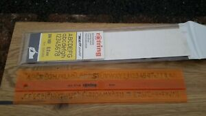 Vintage Lettering Numbering Stencil Template rOtring STENCIL made in Germany