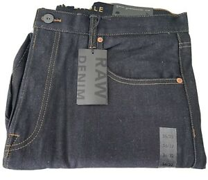 Mens American Eagle Raw Denim Jeans, Relaxed Taper Fit, Size 36x32, NWT