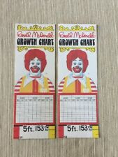 McDonalds 1981 Growth Chart -excellent Condition (2)