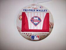 Concept One Phillies MLB Wallet Mens Nylon Tri Fold  Team Colors NWT