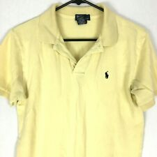 Polo Ralph Lauren Boys Shirt XL 20 Yellow Short Sleeves Pony Logo 100% Cotton