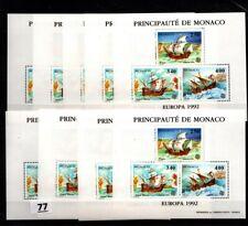 // 9X MONACO 1992 - MNH - EUROPA CEPT - SHIPS