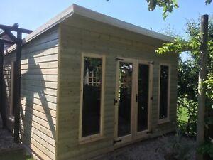 14x10 pent 19mm + 2ft porch summerhouse Hereford garden workshop