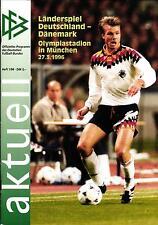 27.03.1996 DFB-actualmente 1/1996 alemania-dinamarca en Munich