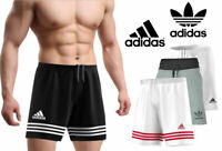 New Original Adidas Mens Black Shorts Jogging Sports Wear Football