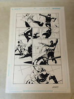 DOCTOR WHO #3 pg #13 original comic art, TENNANT, 2009, IDW, BATTLES GUARD!!!!