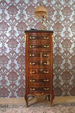 Semainier commode style baroque 7 tiroirs marqueterie marbre d'un château