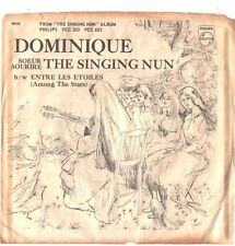 SINGING NUN--PICTURE SLEEVE + 45---(DOMINIQUE)--PS--PIC--SLV