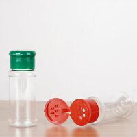 10 Pcs Empty Clear Spice Jars Cruets Seasoning Bottles 30/60ml with Sifter Lid