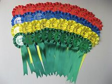 Rosettes Dog Show/Horse Show Rosette Bundle 10 x 1st-4th